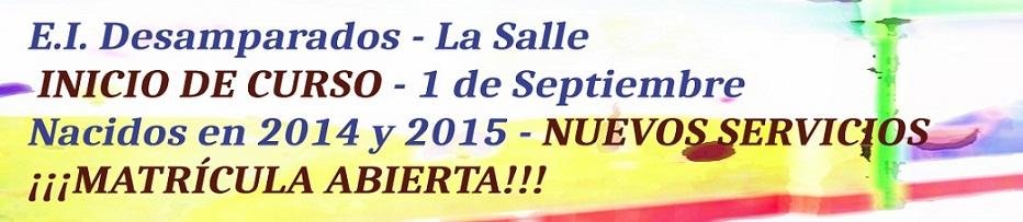 Banner EI matrícula Septiembre