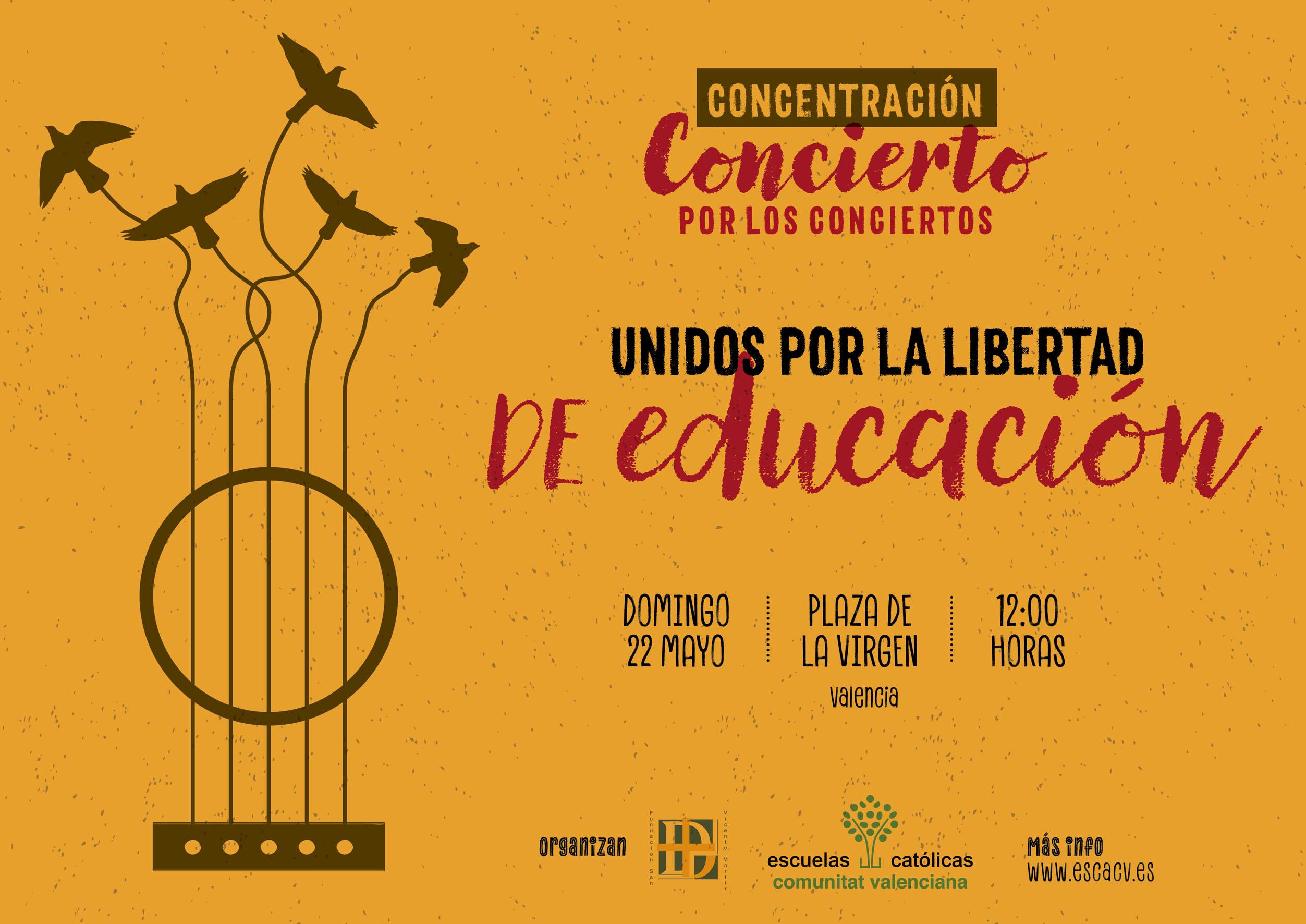 cartel concentracion educacion